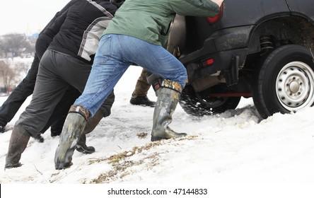 car got stuck
