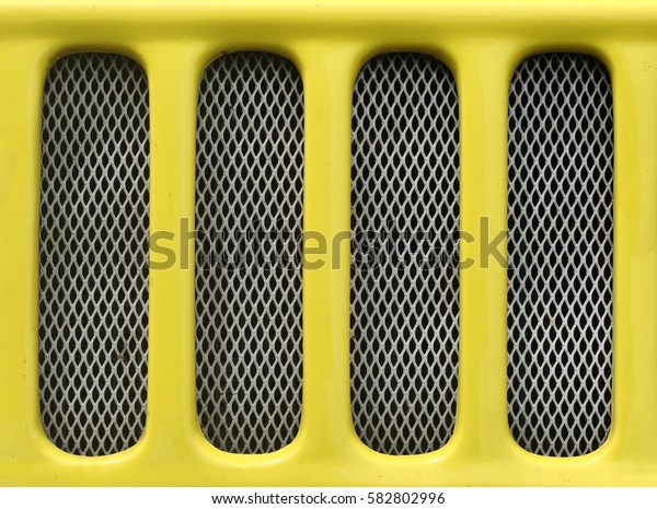 Car Grille on yellow car
