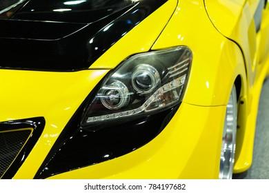 Car headlight yellow. - Shutterstock ID 784197682