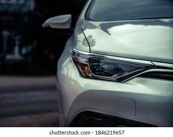 Car headlights. Exterior closeup detail - Shutterstock ID 1846219657