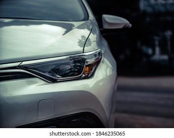 Car headlights. Exterior closeup detail - Shutterstock ID 1846235065