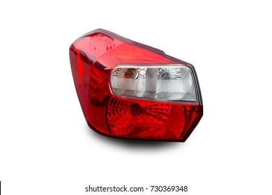 Car headlights isolated from white.