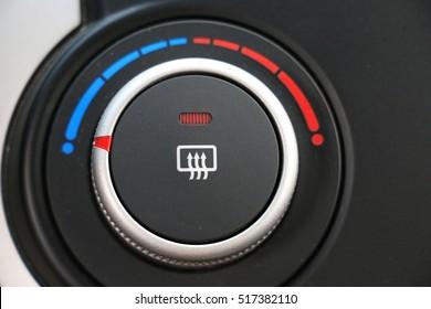 Car heater button