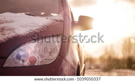 Car in high wind