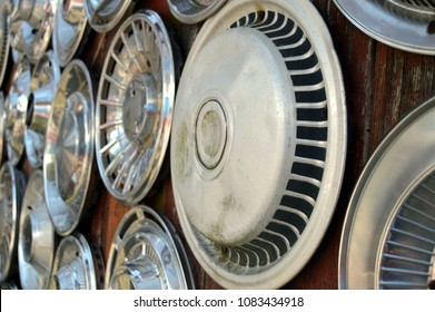 car hubcap wall