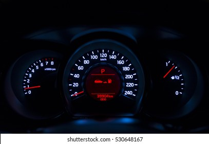 Car instrument panel, isn't present the text