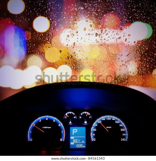 car instrument panel,rain window