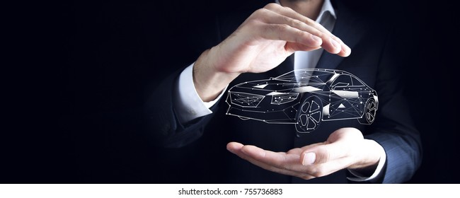 Car  insurance and collision damage waiver concepts