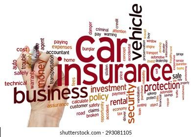 Car insurance concept word cloud background