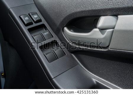 Car Interior Black Door Panel Nobody Stock Photo Edit Now
