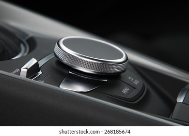 car interior, control touchpad