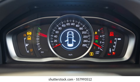 car interior dashboard details