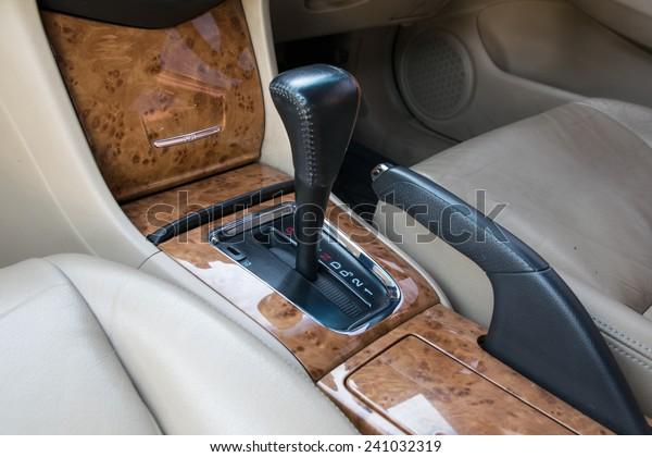 Car Interior Decorate Wood Automatic Transmission Stock