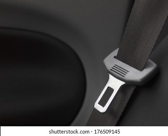 car interior detail with safety  belt
