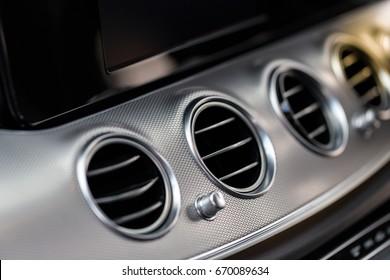 Car interior details of car luxury.