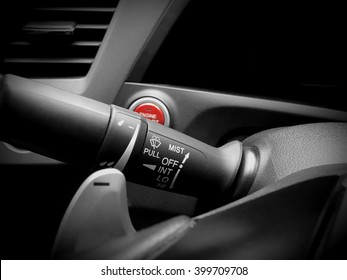 Car interior detail-Wipers control