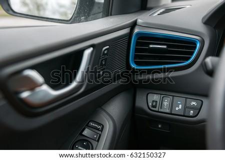 Car interior door handleair vent and buttons. & Car Interior Door Handleair Vent Buttons Stock Photo (Edit Now ...