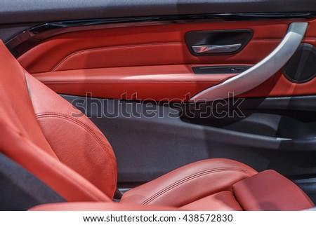 Car Interior Door Panel Stock Photo Edit Now 438572830 Shutterstock