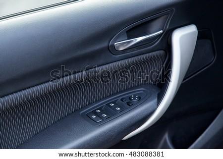 Car Interior Front Door Panel Stock Photo Edit Now 483088381