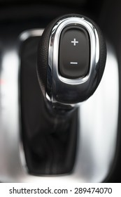 car interior, gear shift