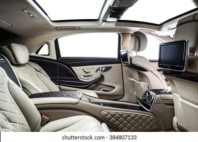 Car interior luxury rear seat