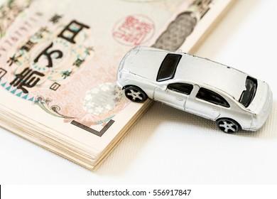 Car and japanese yen