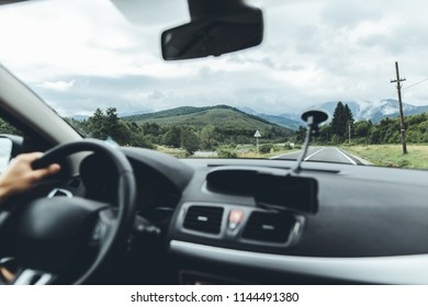 car journey and landscape from the window