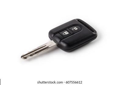Car key, isolated on white