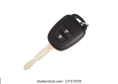 car key isolated white