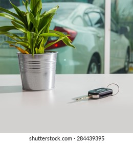 Car key on the table