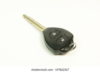 Car key - remote controller on white background