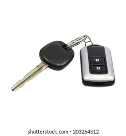 Car key remote isolated on white background, conception.