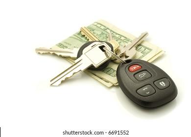 Car keys and money.