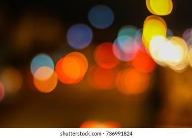 Car lbokeh light background