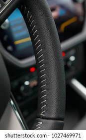 car leather interior details