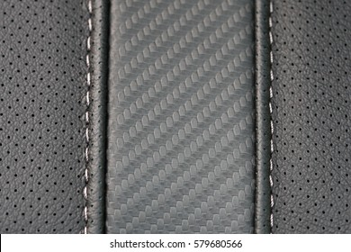 car leather sewing interior details