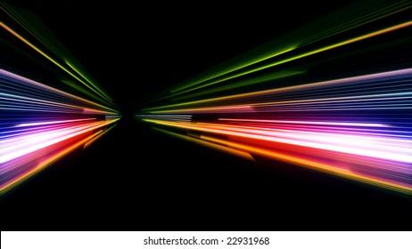 car lights blur