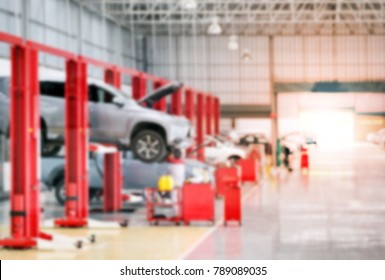 car in maintenance in garage service station, automobile industry