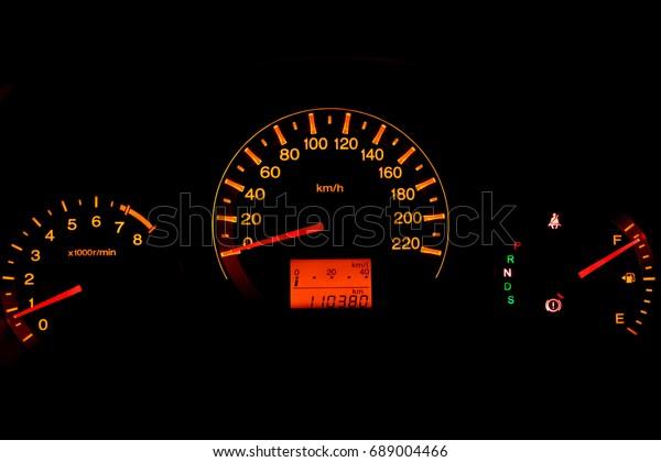 Car Mileage Maximum Speed Stock Photo Edit Now 689004466