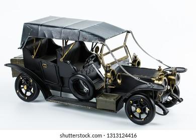 car model on white background