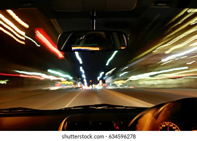 car moving, speed, blurred, long shutter speed