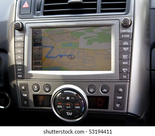 car navigation in detail with route