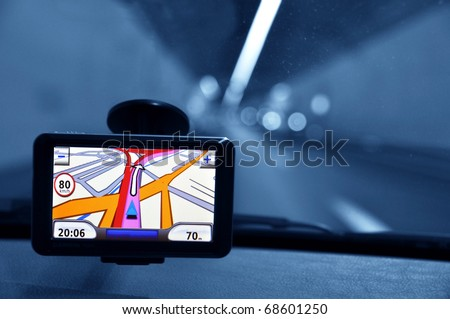 Car Navigation System Stock Photo (Edit Now) 68601250