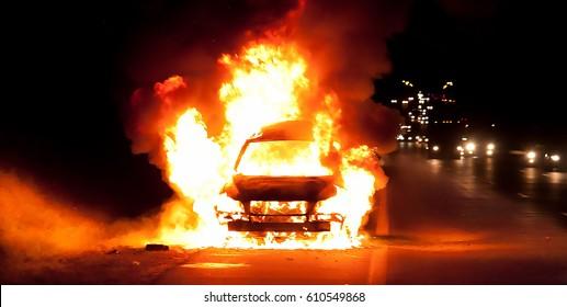 Car on fire 2