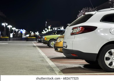 car on the night parking