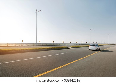 Car on a road.