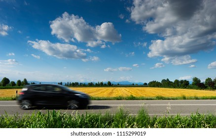 car on the road in the country