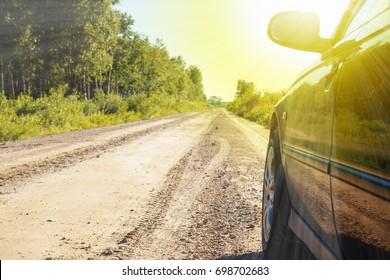 Car on the roadside