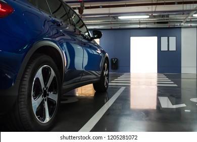 Car on the underground parking
