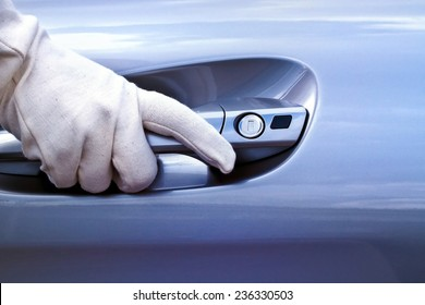 Car open with glove